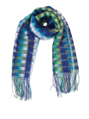 Missoni: scarves - Check viscose mesh scarf