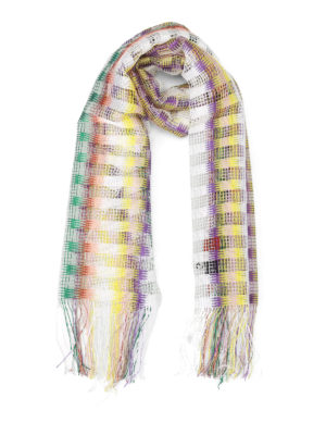 Missoni: scarves - Chequered mesh scarf