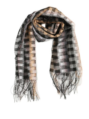 Missoni: scarves - Chequered viscose mesh scarf