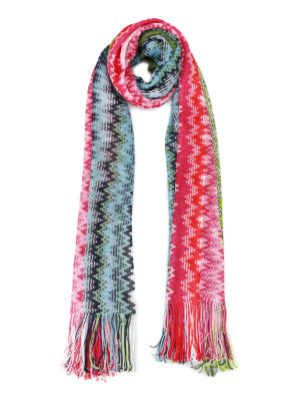 Missoni: scarves - Chevron pattern viscose scarf