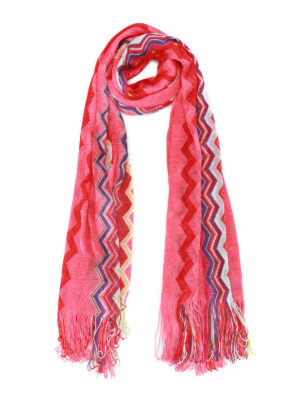 Missoni: scarves - Chevron viscose knit scarf