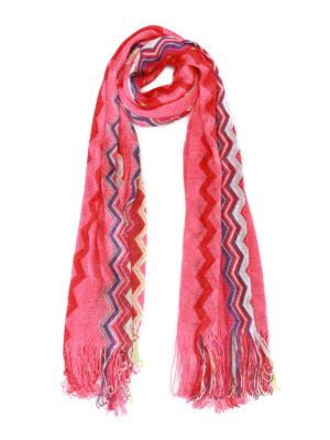 Missoni: scarves - Chevron viscose knit scarf