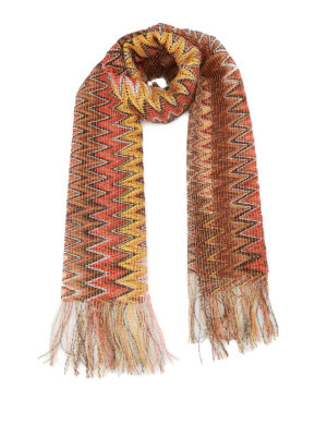 Missoni: scarves - Chevron viscose mesh light scarf