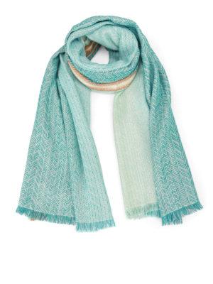 Missoni: scarves - Cotton blend shimmering scarf