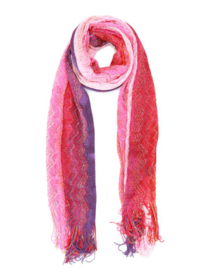 Missoni: scarves - Glowing chevron fringed scarf