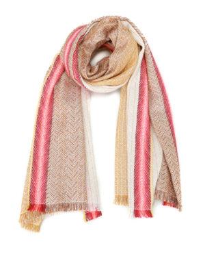 Missoni: scarves - Gold cotton blend shimmering scarf
