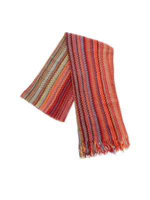 MISSONI: scarves - Knitted scarf in shades of red