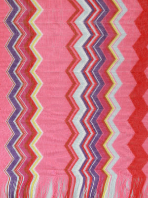 Missoni: scarves online - Chevron viscose knit scarf