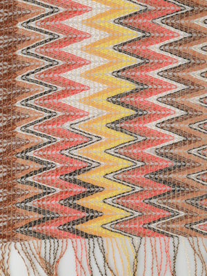 Missoni: scarves online - Chevron viscose mesh light scarf