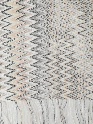 Missoni: scarves online - See-through two-tone chevron scarf