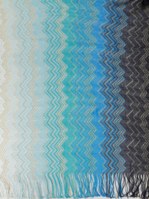 Missoni: scarves online - Shimmering chevron fringed scarf