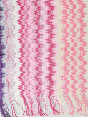 Missoni: scarves online - Wave pattern viscose knit scarf