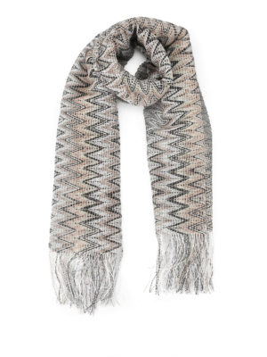 Missoni: scarves - See-through two-tone chevron scarf