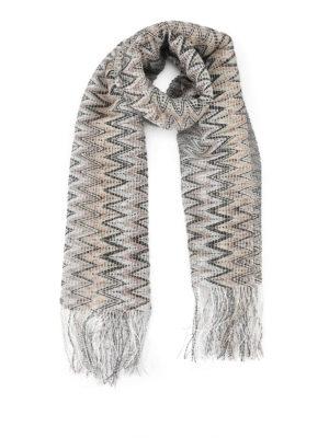 Missoni: scarves - See-through two-tone chevron scarf