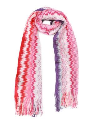 Missoni: scarves - Wave pattern viscose knit scarf