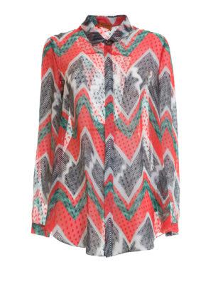 Missoni: shirts - Chevron patterned silk shirt