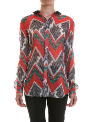 Missoni: shirts online - Chevron patterned silk shirt