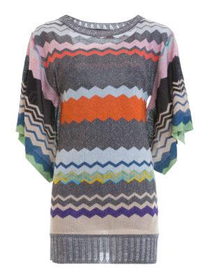Missoni: short dresses - Chevron pattern tunic mini dress
