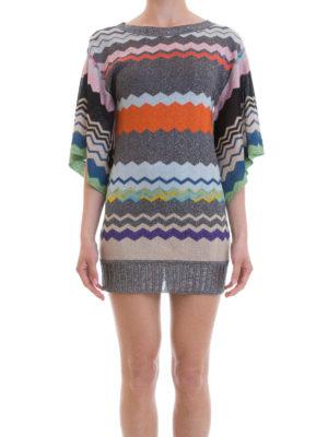 Missoni: short dresses online - Chevron pattern tunic mini dress