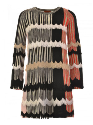 Missoni: short dresses - Patterned silk jersey dress