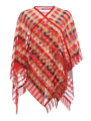 Missoni: Stoles & Shawls - Chequered viscose mesh cape