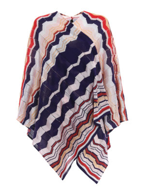 Missoni: Stoles & Shawls - Colourful chevron jersey large cape