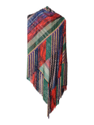 Missoni: Stoles & Shawls - Multicolour pattern lurex shawl