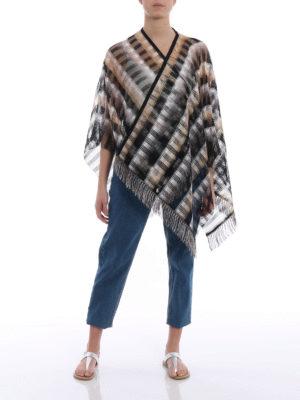 Missoni: Stoles & Shawls online - Check viscose mesh cape