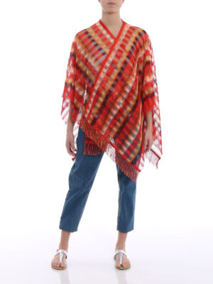 Missoni: Stoles & Shawls online - Chequered viscose mesh cape