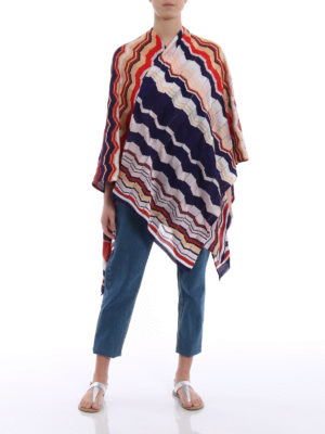 Missoni: Stoles & Shawls online - Colourful chevron jersey large cape