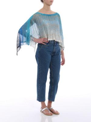 Missoni: Stoles & Shawls online - Glitter wave viscose poncho