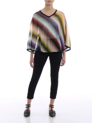 Missoni: Stoles & Shawls online - Wave patterned lightweight poncho