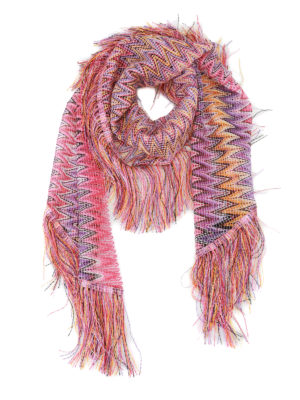 Missoni: Stoles & Shawls - See-through chevron shawl