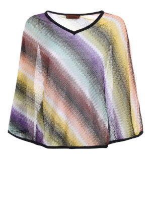 Missoni: Stoles & Shawls - Wave patterned lightweight poncho