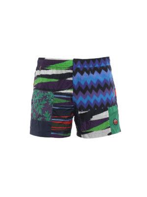 Missoni: Swim shorts & swimming trunks - Patchwork print swim shorts