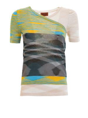 Missoni: t-shirts - Multi-layer effect T-shirt