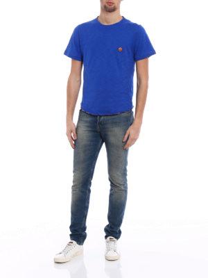 Missoni: t-shirts online - Multicolour patch blue T-shirt