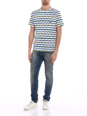 Missoni: t-shirts online - Patterned textured cotton T-shirt