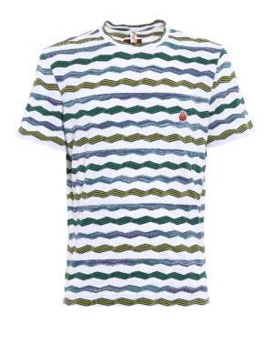 Missoni: t-shirts - Patterned textured cotton T-shirt