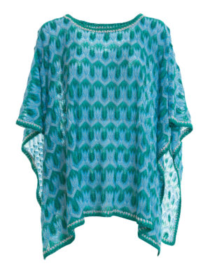 Missoni: tunics - Lurex detailed knitted caftan