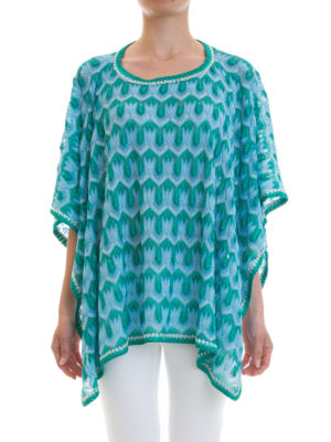 Missoni: tunics online - Lurex detailed knitted caftan