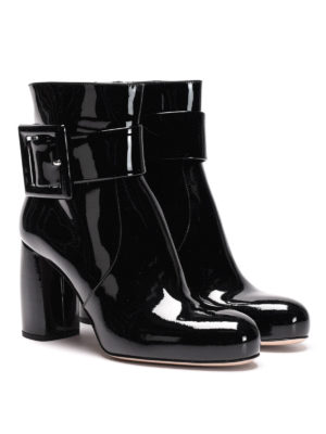 Miu Miu: ankle boots online - Patent leather ankle boots
