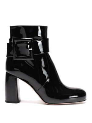 Miu Miu: ankle boots - Patent leather ankle boots