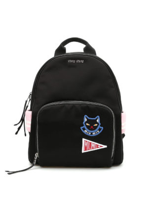 Miu Miu: backpacks - Patch and knit details backpack