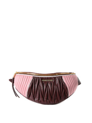 Miu Miu: belt bags - Bicolour matelassé nappa belt bag