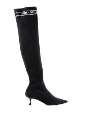 MIU MIU: stivali - Boots a calza stretch H55