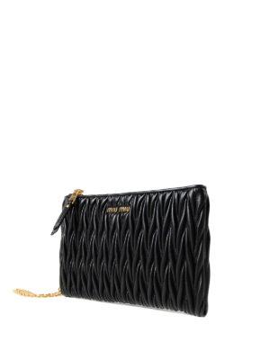 Miu Miu: Cases & Covers online - Black matelassé leather pouch