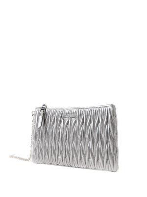 Miu Miu: Cases & Covers online - Silver matelassé leather pouch