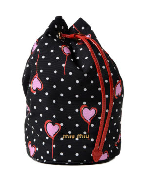 Miu Miu: Cases & Covers - Polka dot pouch with hearts
