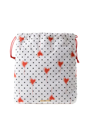 Miu Miu: Cases & Covers - Polka dot pouch with printed hearts